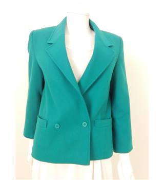Vintage 80's Planet Size 12 Azure Blue Double Breasted Blazer