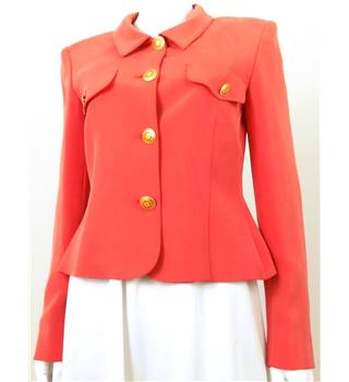 The Powerhouse Woman Collection: Vintage 1980's Paul Costello Size: 10 Pink Coral Jacket