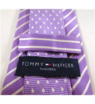 Tommy Hilfiger Tailored Lilac Purple Striped Silk Tie