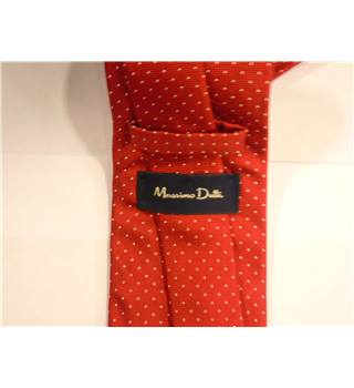 Massimo Dutti Red Polka Dot Pattern Silk Tie