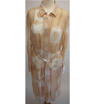 NWOT M&S Autograph size: 14 Cream / Pink Shirt Style dress