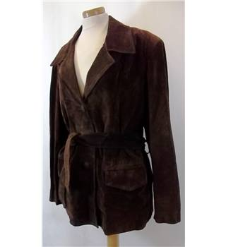 Gab - Size: L - Brown Suede Jacket