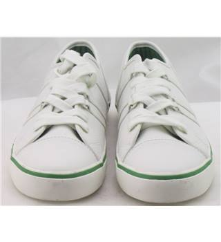NWOT M&S Kids, size 13/32 white faux leather trainers