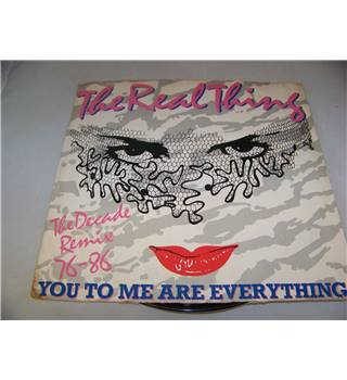 "You To Me are Everything The Decade Remix 76-86 The Real Thing - 12p 349 12"" single"