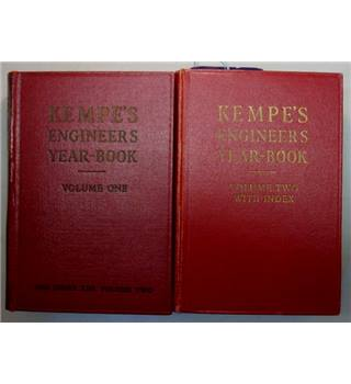 Kempe's Engineers Year-Book 1958, vol 1 and 2.