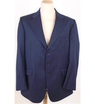 Mulberry L Navy Striped Suit