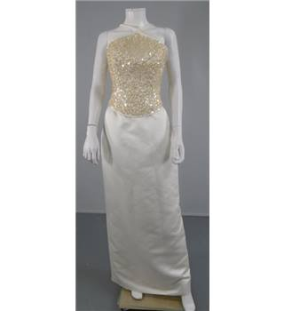 BNWT Two Piece Pronuptia Size 14 Ivory Sequinned Wedding Dress