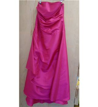 Impression Bridal Strapless Bridesmaid Dress in Fuscia - Size: 16