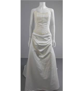Two Piece High Society by Jacquie Lawrence Size 14 Ivory Wedding Dress