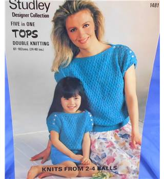 Studley 1481 Knitting pattern Ladies and Girls Tops
