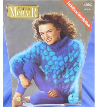 Sirdar 8560 Ladies Mohair Sweater Knitting Pattern
