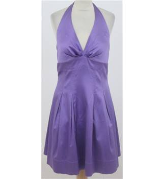 Spotlight by Warehouse size: 14 purple halter neck cocktail dress