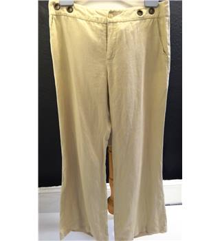 Beige Trousers - Oui Moments - Size: M