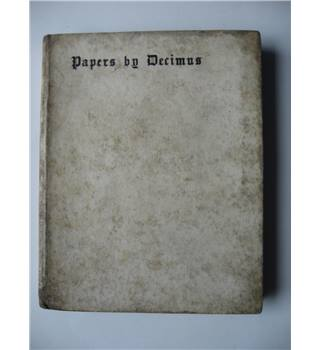 Papers by Decimus (written 1881-1894)