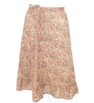 Skirts of the Harvest Collection: Chelsea Girl Size 8 Brown and Orange Fainty Floral Skirt