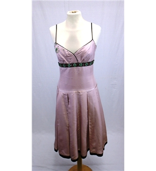 *Whistles size 8 pink with embellishments silk dress