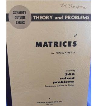 Schaum's Outlines: Matrices