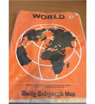 Daily Telegraph ; Map showing political divisions, shipping routes, time zones. Inset maps of Greenland and Antarctica :
