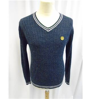 Ultra Couture UltraMagnetic - Size: S - Blue  -  V Neck Pullover