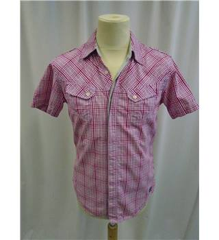 Hilfiger Denim - Size: S - Red and white -  Short Sleeved Shirt