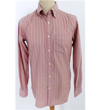 1971 Reiss Size S White and Pink Striped Shirt PHOTOSHOOT