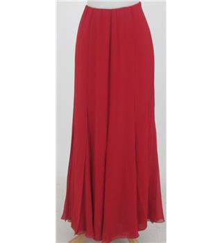 Frank Usher size: 10 red long skirt