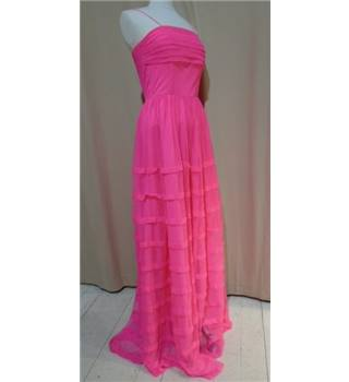 New! BNWT - AKAASH Bright Pink  Long dress Size S