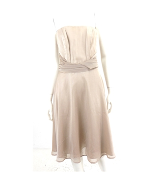 *BNWT Olivia Mae Size 12 Pale Iridescent Mauve Strapless Dress