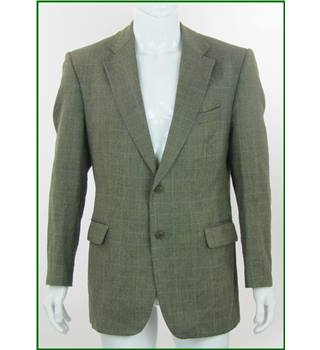 "Magee - Size: 42"" - Beige Herringbone - Wool Mix Single breasted suit jacket"