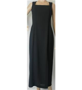 Debut Long Black Evening Dress - Size: 12