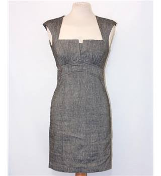 Asos grey linen mix dress