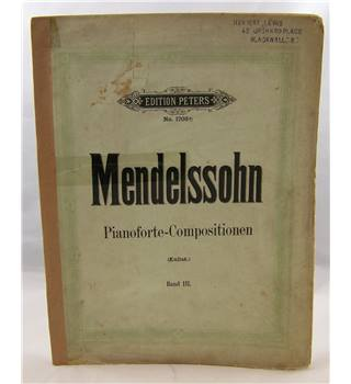 Mendelssohn - Piano Compositions.