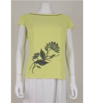 Jacques Vert Size 18 Pastel Yellow Cap Sleeved Top