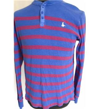 Jack Wills Size L  Blue and Red Striped Jumper