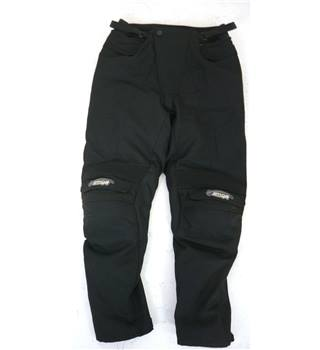 "Spada Size: S, 30"" waist, 29"" inside leg Raven Black Motorcycle/Racing ""Maxdura"" Textile Armoured Trousers"