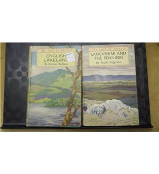 English Lakeland and Lancashire and the Pennines (two books) by Singleton and Wallace 1942/1952 - 1st Edition
