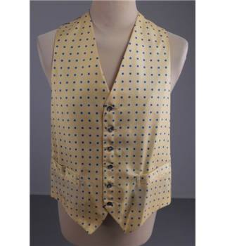 BNWT Liberty Size: L Yellow and Blue Spotted Waistcoat