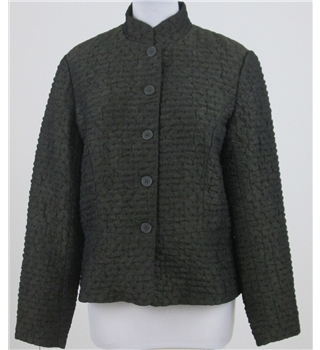Coldwater Creek Size S dark green crinkle effect jacket