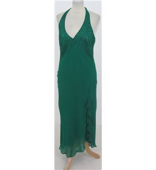 Wallis Size: 14 Green Silk  Long dress
