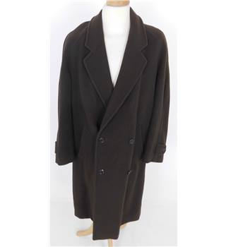 "Unbranded  Size: M, 40"" chest, 3/4 length Chocolate Brown Smart/Stylish Wool & Cashmere luxury Double Breasted Coat"