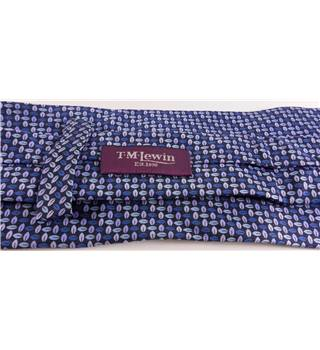 T M Lewin Blue Patterned Silk Tie T.M.Lewin - Size: One size - Blue - Tie