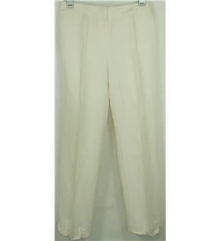 Phase Eight size 14 cream wide legged trousers