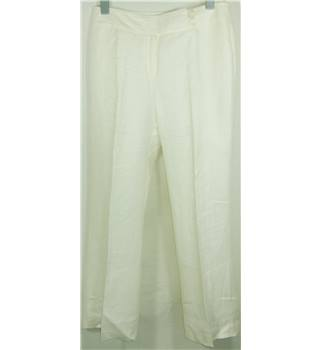 Laura Ashley size 14 ivory wide legged trousers