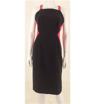 Next Size 10 Magenta and Black Panel Dress