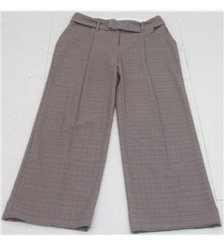 NWOT M&S Collection size: 10L brown check wide leg trousers