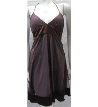 Speecklers size S purple halter-neck dress