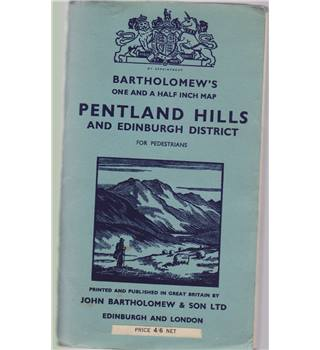 Pentland Hills and Edinburgh District for Pedestrians - Bartholomew's on cloth