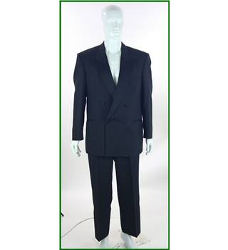 "St Michael - Size: 42"" Chest/34"" Waist - Black - Wool Mix - Double breasted dinner suit"