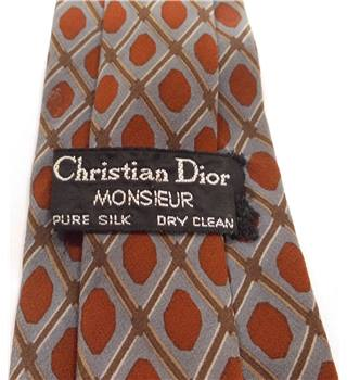 Christian Dior One Size Grey/Blue Tie