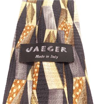 Jaeger Black Patterned Silk Tie